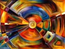 Radiaal gebrandschilderd glasontwerp Stock Afbeeldingen