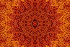 Radiaal gestippeld patroon vector illustratie