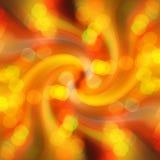 Radiaal gouden onduidelijk beeld van het lichte ontwerp van de bokehvlek Stock Afbeelding