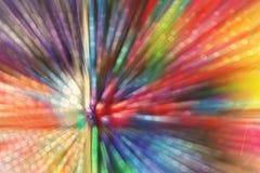 Radiaal onduidelijk beeldgezoem binnen bij vele kleurrijke pennen stock fotografie