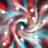 Radiaal rood blauw onduidelijk beeld van het lichte ontwerp van de bokehvlek Royalty-vrije Stock Foto