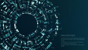 Radiaal Rooster Grafisch Ontwerp Abstracte vectorachtergrond Trechter, Zwart Gat royalty-vrije illustratie