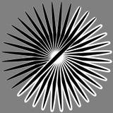 Radiaal, uitstralend lijnen Asymmetrisch geometrisch element Circula stock illustratie