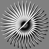 Radiaal, uitstralend lijnen Asymmetrisch geometrisch element Circula vector illustratie