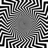 Radiaal, uitstralend lijnen met golvende, zigzagvervorming vector illustratie