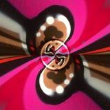 Radiaal willekeurig geschilderd abstract patroon Royalty-vrije Stock Foto