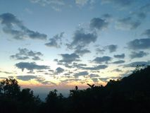 Radiación azul Foto de archivo libre de regalías