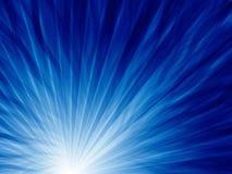 Radiación azul simple abstracta de la onda Fotos de archivo