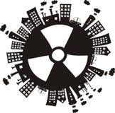 Radiación en el mundo Foto de archivo libre de regalías