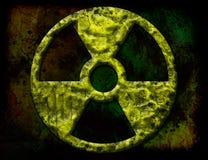 Radiación, símbolo, nuclear Fotos de archivo libres de regalías