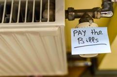 Radiador frio do calor Foto de Stock