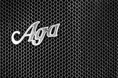 Radiador y el emblema del coche AGA Typ C6/20 Fotos de archivo libres de regalías