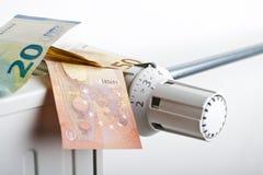 Radiador y euro imagen de archivo