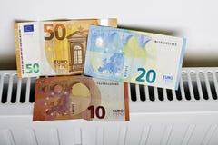 Radiador y euro foto de archivo libre de regalías