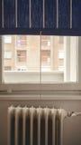 Radiador y ventana viejos Imagen de archivo libre de regalías