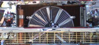 Radiador y ventilador del cromo Imagen de archivo libre de regalías
