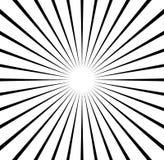 Radial выравнивает starburst, картину sunburst Черно-белое circul бесплатная иллюстрация