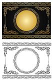 radial орнамента золота Стоковая Фотография