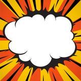 Radial стиля искусства шипучки супергероя взрыва комика выравнивает предпосылку Стоковое Изображение RF