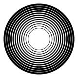 Геометрический элемент концентрических кругов Radial, излучая циркуляр бесплатная иллюстрация