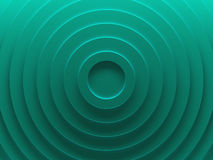Radial abstract background image. 3D illustration. Green rings. Abstract geometric background texture works good for text and website backgrounds, poster and Royalty Free Stock Image