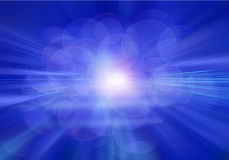 Radial abstract blue background Royalty Free Stock Images