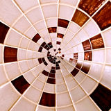 Radial abstract checkered ring pattern Royalty Free Stock Images