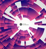 Radial abstract graphics, vector illustration. Radial abstract graphics, vector illustration,Abstract urban architecture, purple background, purple vector map Royalty Free Stock Photography