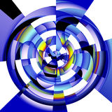 Radial abstract image on white background Stock Photography