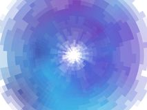 Radial abstract mosaic background Stock Image