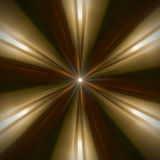 Radial abstract pattern of golden light stock image