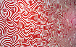 Radial Abstract Pattern Red and White. Background Royalty Free Stock Images