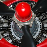 Radial aero engine Stock Photos