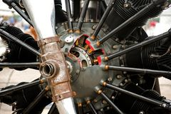 Radial aircraft engine Royalty Free Stock Image