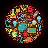 Radial Back to school concept Royalty Free Stock Image