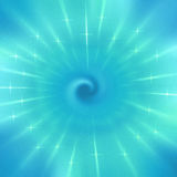Radial blue blur of bokeh spot light design. Abstract background Royalty Free Stock Images
