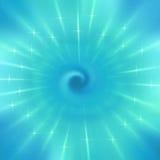 Radial blue blur of bokeh spot light design Royalty Free Stock Images