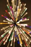 Radial blurred lights. Royalty Free Stock Images