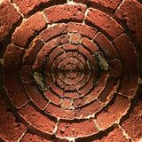 Radial brick wall pattern Royalty Free Stock Photography