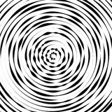 Radial concentric circles with irregular, dynamic lines. Abstract pattern with rotating, spiral effect. Royalty free vector illustration vector illustration