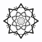 Radial contour monochrome drawing in the form of stars Royalty Free Stock Images