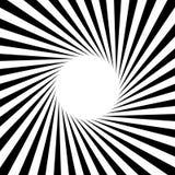 Radial - das Ausstrahlen zeichnet starburst Sonnendurchbruch-Rundschreibenmuster stock abbildung