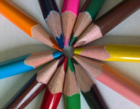 Radial de crayon photo libre de droits