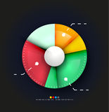 Radial diagram design template Royalty Free Stock Photography