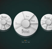 Radial diagram design template. This is file of EPS10 format Royalty Free Stock Image