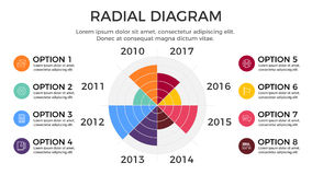 Radial Diagram Infographic Element Stock Images