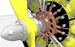 Radial Engine Cylinder Stock Image