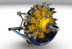 Radial Engine Cylinder royalty free illustration