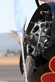 Radial engine detail Stock Photo