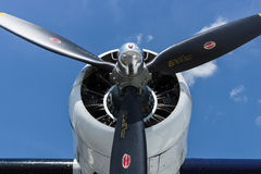 Radial engine of maritime patrol and search-and-rescue seaplane Consolidated PBY Catalina (PBY-5A). Royalty Free Stock Photos